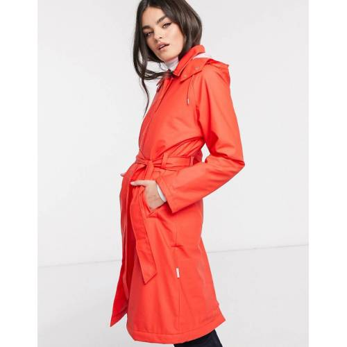 Rains – W – Wasserfester Trenchcoat in Rot S/M