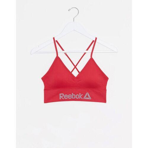 Reebok – Nahtloser BH in Rot XS