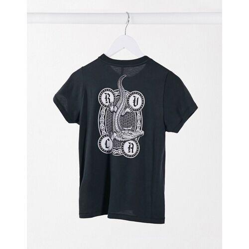 RVCA – Benjamin Jean Jean Benjamin – T-Shirt in Schwarz XS