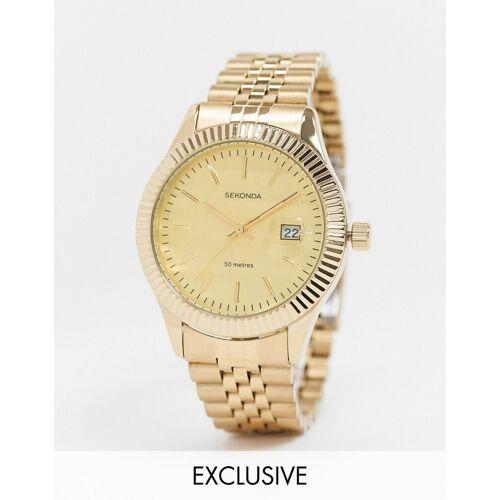 Sekonda – Exklusiv bei ASOS – Uhr mit goldenem Armband No Size