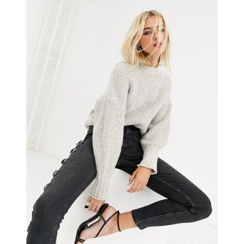 Topshop – Pullover in Hafer-Beige M