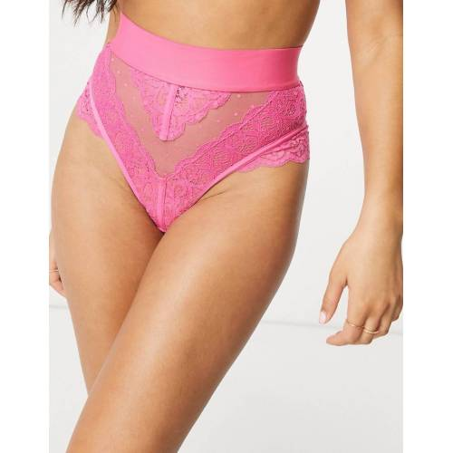 Tutti Rouge – Gia – Tanga in Pink mit hoher Taille-Rosa M