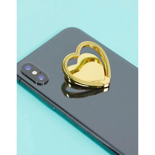 Typo – Herzförmiges Handystativ in Gold-Metall No Size