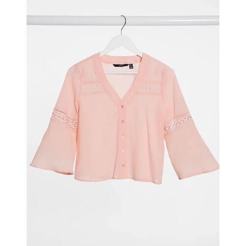 Vero Moda – Rosafarbenes Hemd S