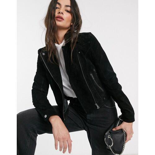 Vero Moda – Schwarze Wildlederjacke M