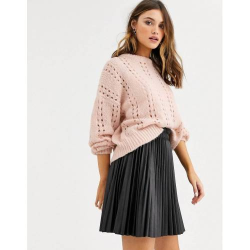 Vila – Grobmaschiger Pullover-Weiß L