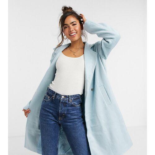 Wednesday's Girl – Eleganter Mantel in Pastell-Blau XXS