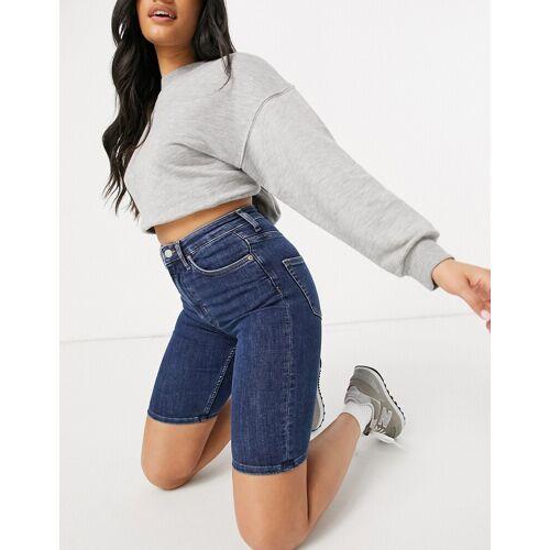 Weekday – Body Peralta Blue – Blaue Shorts mit hohem Bund 36