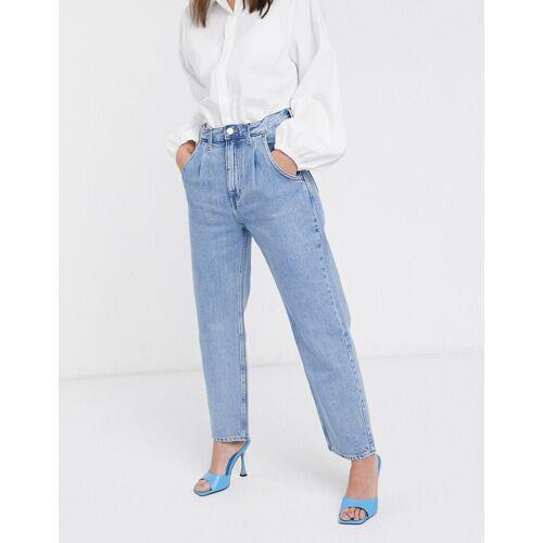 Weekday – Frame – Lässige Kokon-Jeans in Pen-Blau W30 L30
