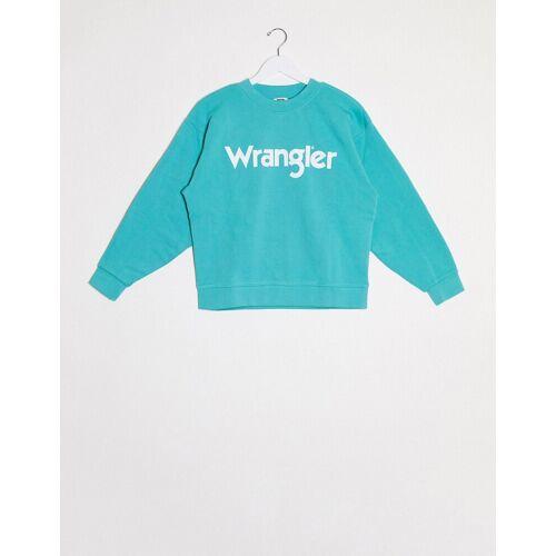 Wrangler – Blaues Sweatshirt mit Logo XS