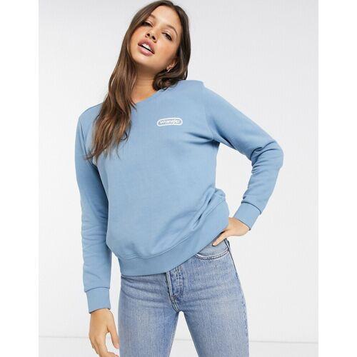 Wrangler – Core – Sweatshirt mit Logo-Blau XS
