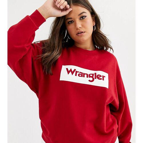 Wrangler Plus – Sweatshirt mit Logo-Rot 3XL