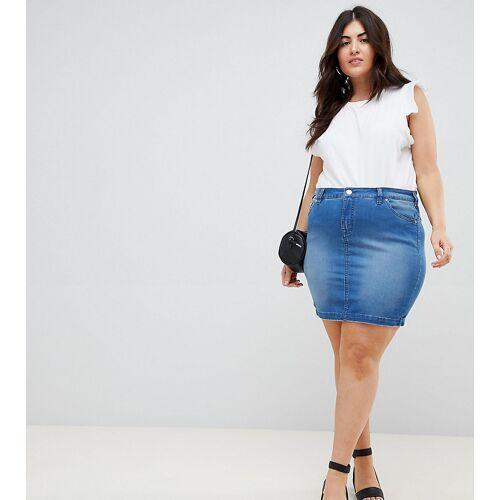 Zizzi – Mini-Jeansrock, exklusiv bei ASOS-Blau S