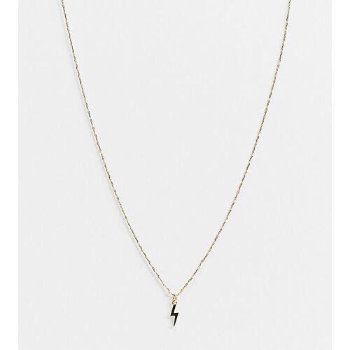 Orelia – Vergoldete Halskette mit Blitz-Anhänger und Geschenkbox No Size