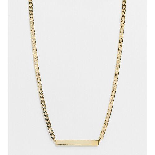 Orelia – Vergoldete Halskette mit flachem Steg No Size