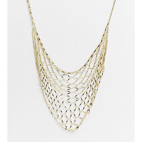 Orelia – Vergoldete Statement-Halskette in Gitteroptik No Size