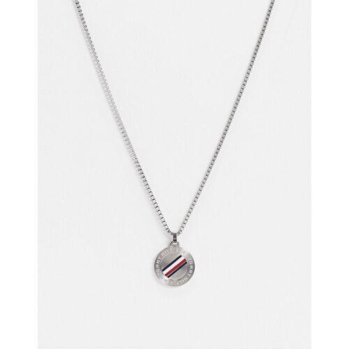 Tommy Hilfiger – Halskette mit runder Hundemarke in Silber No Size