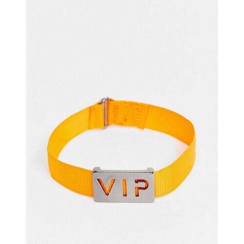 WFTW – Armband aus orangefarbenem Cord mit VIP-Etikett No Size