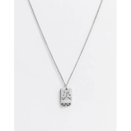 Classics 77 – Halskette in Silber mit Insel-Design und Hundemarke No Size