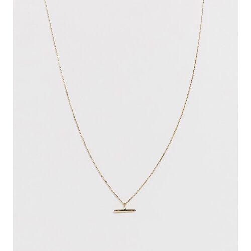 Orelia – Vergoldete Halskette mit T-Steg No Size