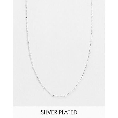Orelia – Versilberte Halskette No Size