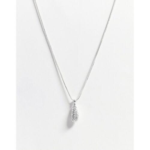 Pilgrim – Emery – Silberfarbene Halskette mit Kristallanhänger No Size