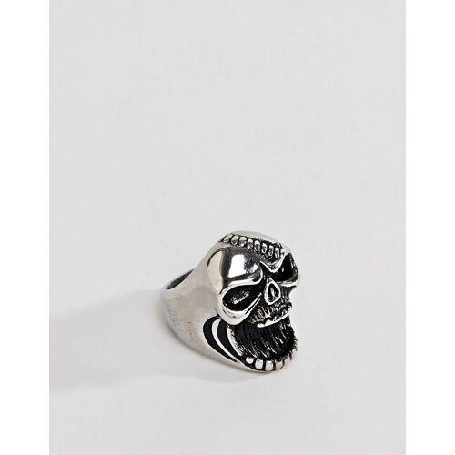 Seven London – Flaschenöffner-Ring mit Totenkopf in Silber S / M