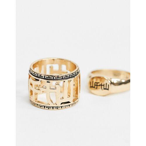 WFTW – Goldene Ringe im 2er-Pack S / M