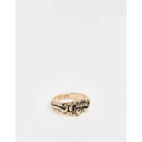 WFTW – Goldener Siegelring mit Drachendesign M/L