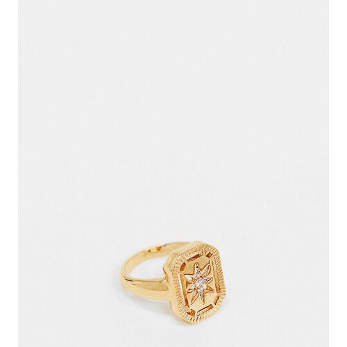 Accessorize Z for Accessorize – Gravierter Ring in Gold L