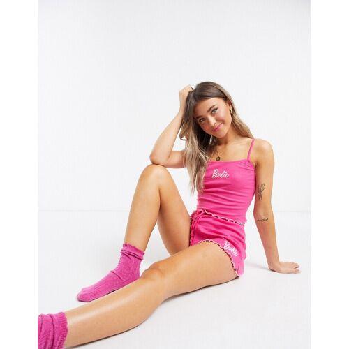ASOS DESIGN – Mix-&-Match – Barbie – Pyjama-Shorts-Rosa 34