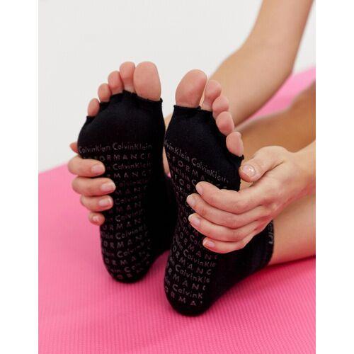 Calvin Klein Performance – Yoga-Knöchelsocken mit rutschfester Sohle in Schwarz
