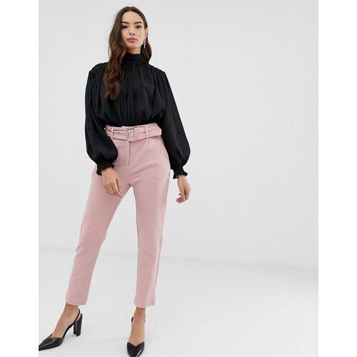 Girl In Mind – Hose mit breitem Gürtel und Schnalle-Rosa 42