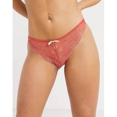 Gossard – Spitzenslip in Zimt-Orange M