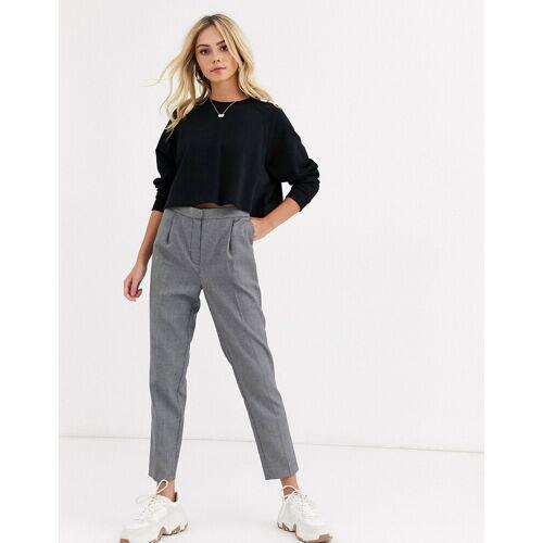 New Look – Grau gemusterte Arbeitshose 36