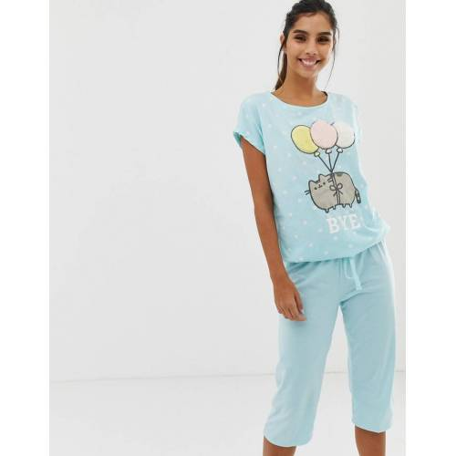 Women'secret – Pusheen Cat Bye – Kurzärmliger, bunter Pyjama-Mehrfarbig XS