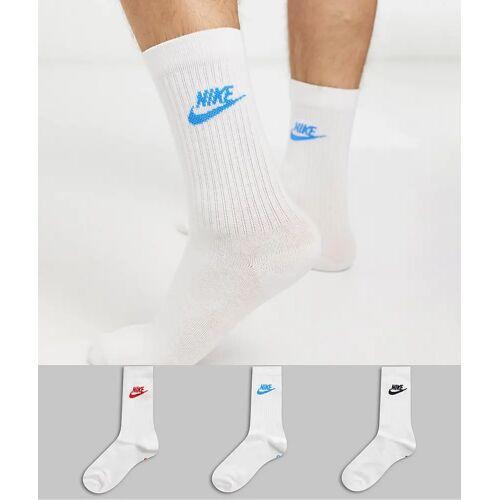 Nike – Evry Essential – 3er Packung weiße Socken L