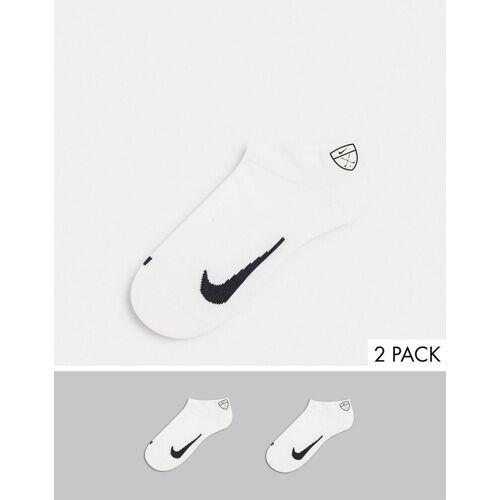 Nike Golf – 2er-Pack Socken in Weiß S