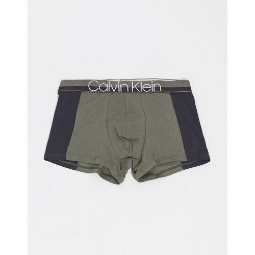Calvin Klein – Pieced –Unterhose aus Baumwolle-Grün S