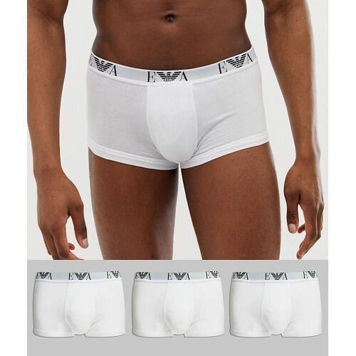 Emporio Armani – EVA – 3er-Pack Unterhosen mit Logo in Weiß XL