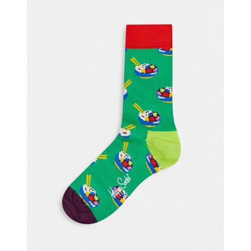 Happy Socks – Sushi – Socken-Grün Einheitsgröße