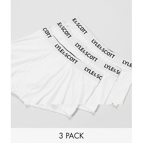Lyle & Scott – Weiße Unterhosen im 3er Pack L