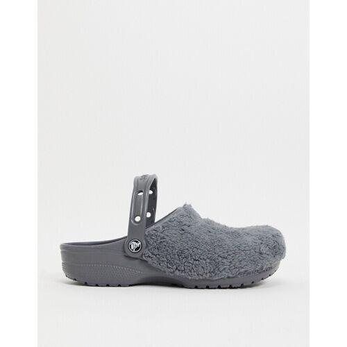 Crocs – Originals – Clogs in Felloptik in Grau 42-43