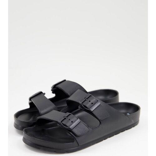 New Look – Sandalen in Schwarz mit Schnalle 45