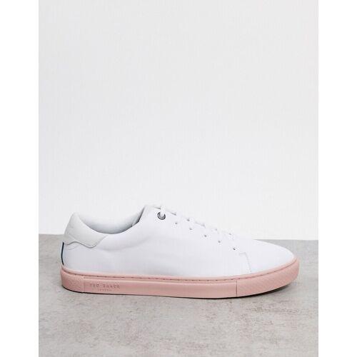 Ted Baker – Darall – Sneaker mit rosafarbener Sohle-Weiß 40