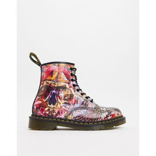 Dr Martens x CBGB – 1460 – 8-Eye-Boots mit Totenschädel-Print-Mehrfarbig 41