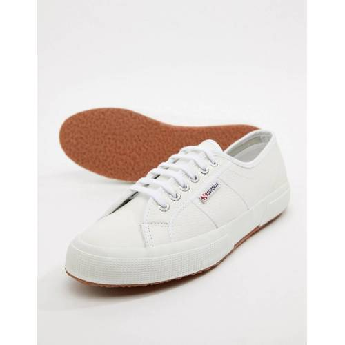 Superga – 2750 – Klassische Lederschuhe in Weiß 43