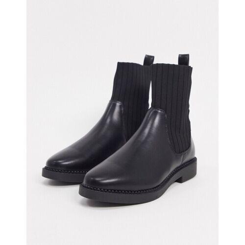 ASOS DESIGN – Amanda – Klobige Sock Boots in Schwarz 39