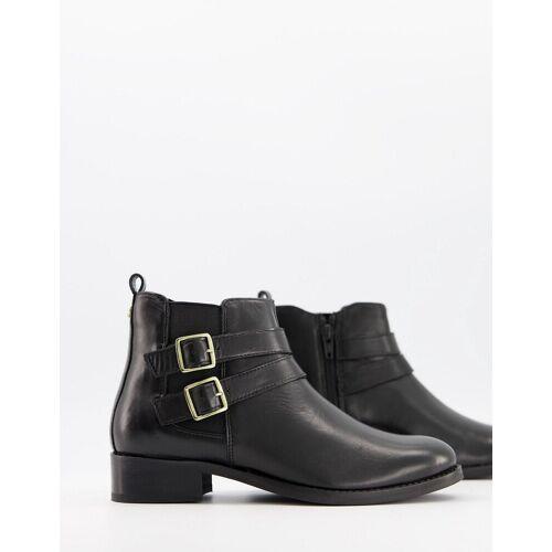 Carvela – Tempo – Ankle-Boots in Schwarz aus Leder mit Schnallen 41