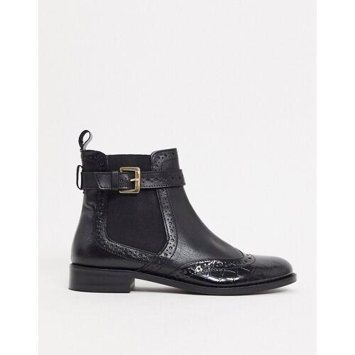 Dune – Parker – Schwarze Chelsea Boots aus Leder 38
